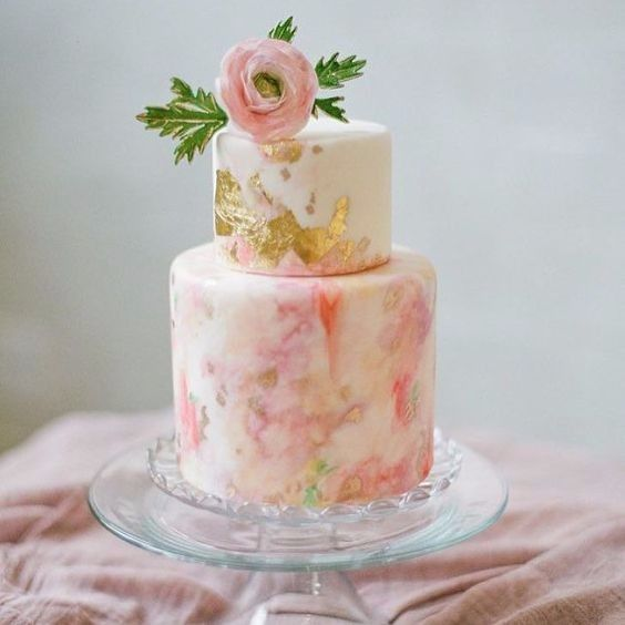 Oil Painting Effect On Cake