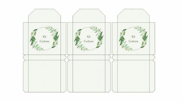 Envelope kit costura