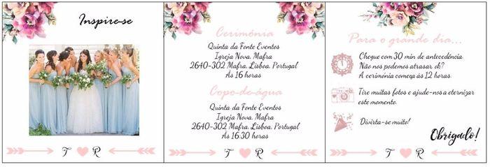Molde convite Madrinha/ Damas de Honor