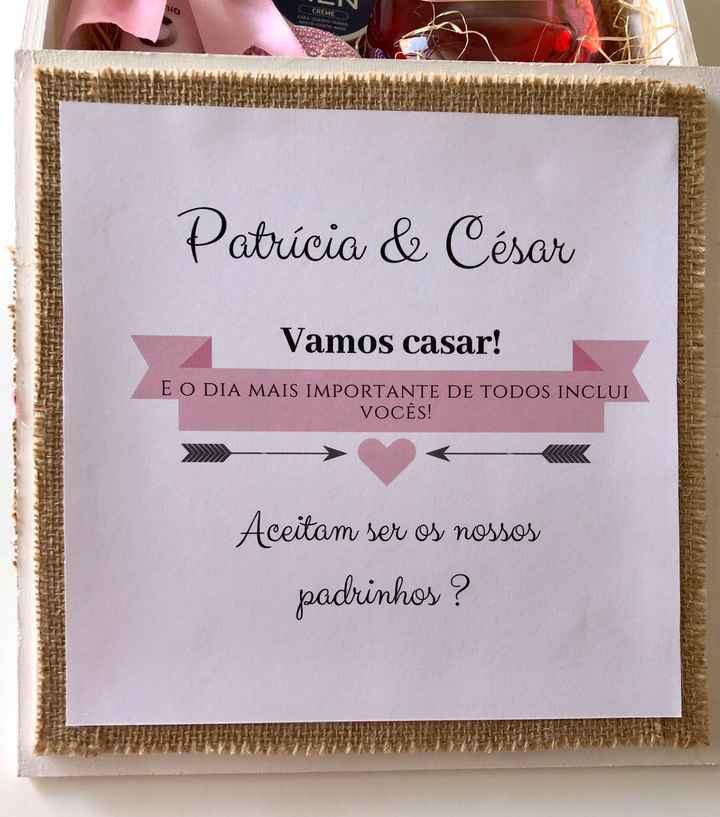 Convite Padrinhos- Check ! - 2