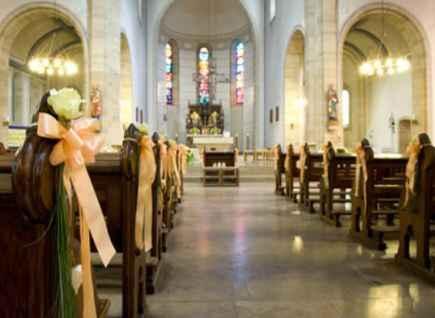 Decoração da igreja - laços - 3
