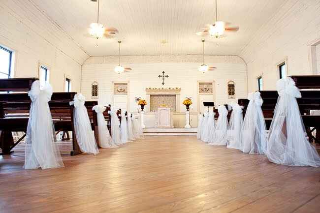 Decoração da igreja - laços - 6