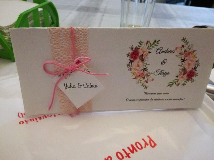 Nomes dos convidados nos convites 1