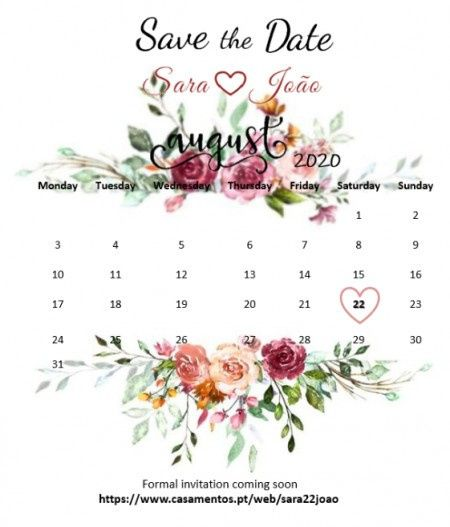 Save the Date - Check! 1