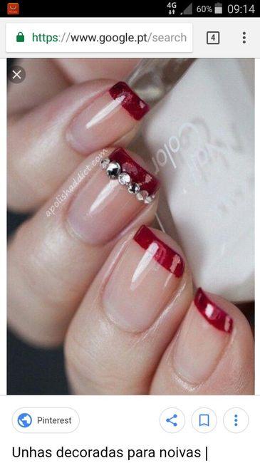 As unhas de noiva (inspirações ) 9