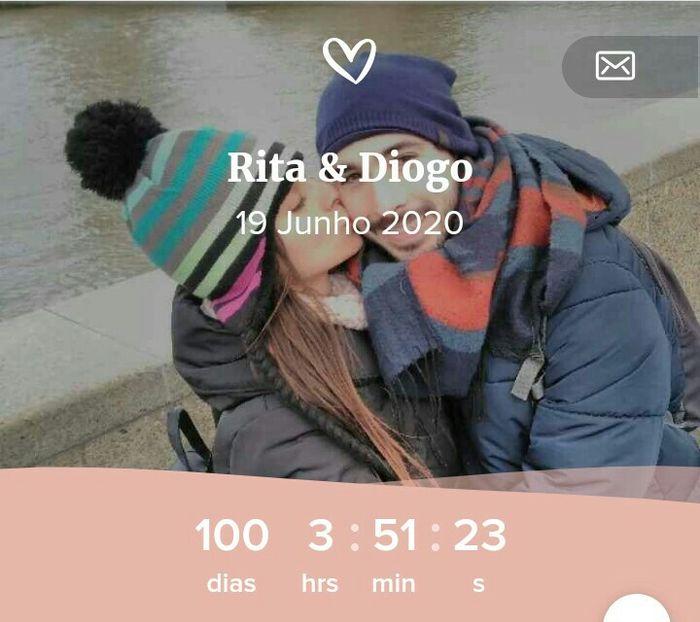 100 dias para o grande dia 😍 1