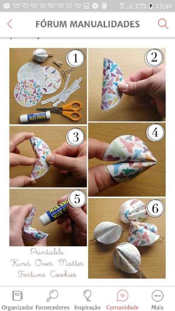 Biscoitos da sorte em papel - 1