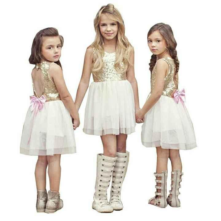 Vestidos menina flores/alianças - 1