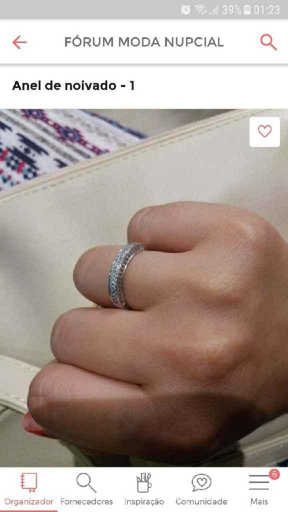 o anel de noivado 💍😍 - 1