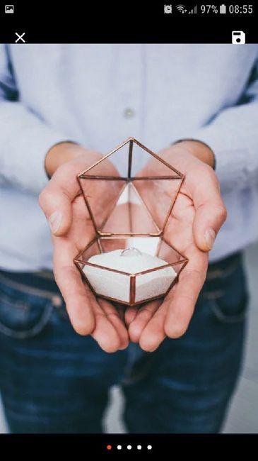 Porta alianças - caixinha de vidro 2