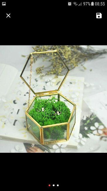 Porta alianças - caixinha de vidro 4