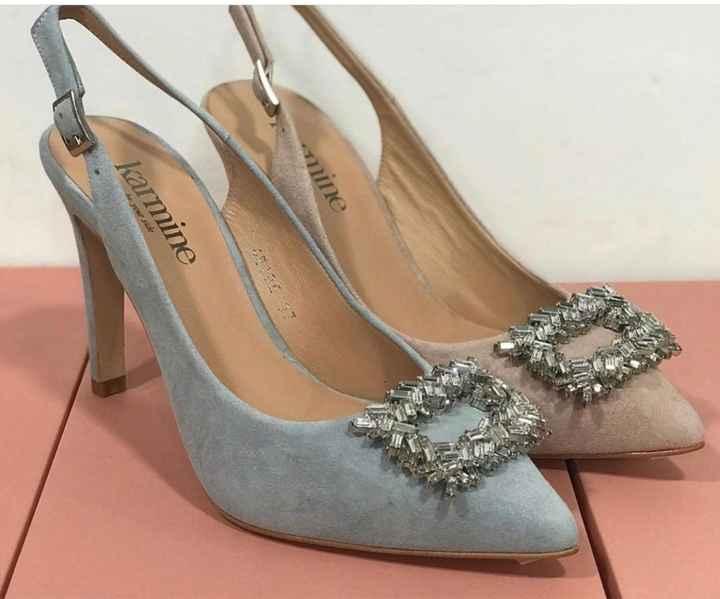 Sapatos azul dusty ou rosa velho coral??? - 1