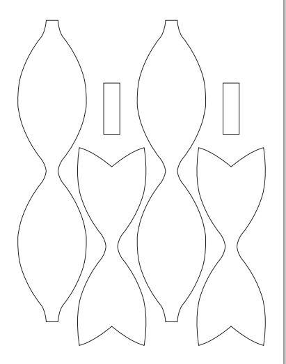 Convites em forma de laço - 4