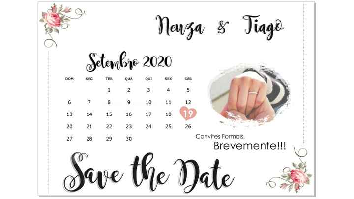 O meu Save the Date