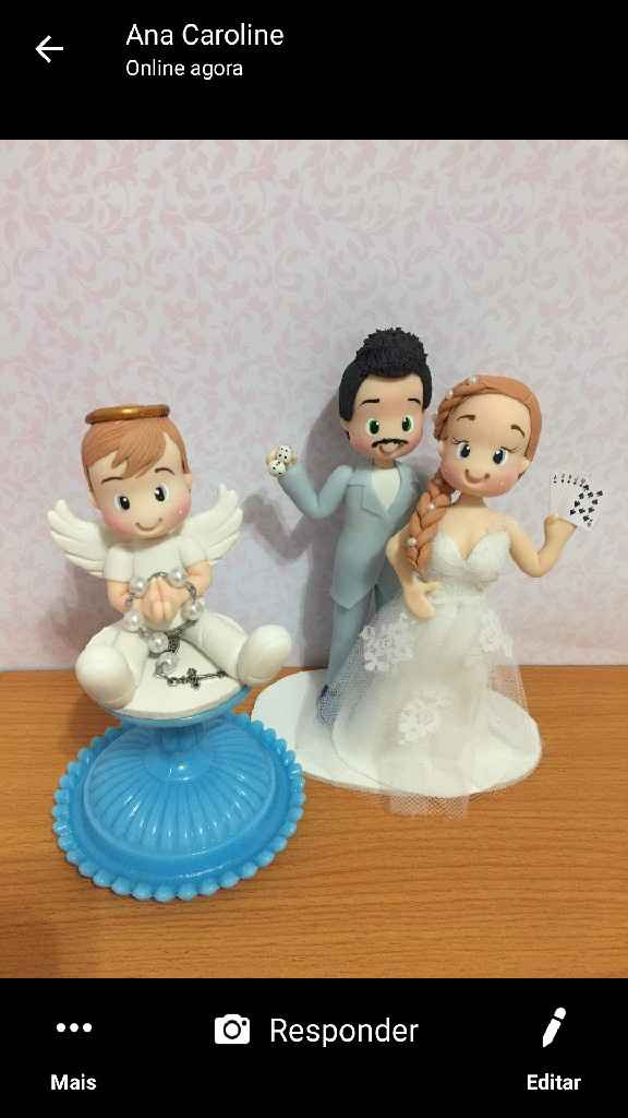 Topo de bolo de casamento - 1