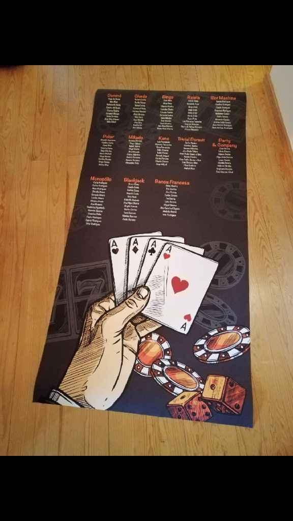 Poster identificação de mesas - 1