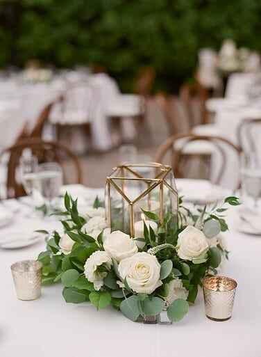 As cores do meu casamento Greenery: verde, branco e alguns apontamentos em Dourado ❤ - 5