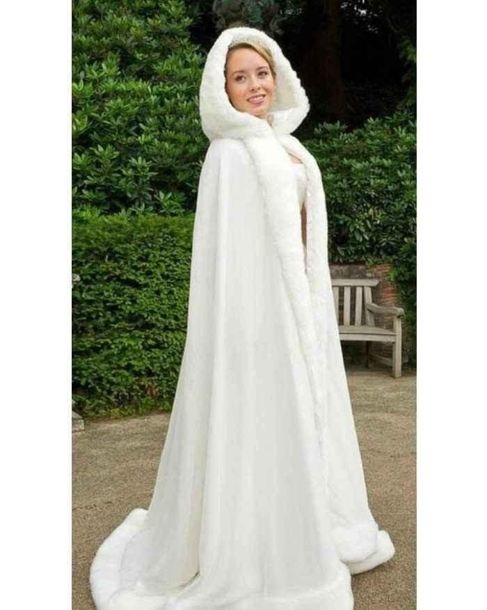 Capa de vestido de noiva outono - 1
