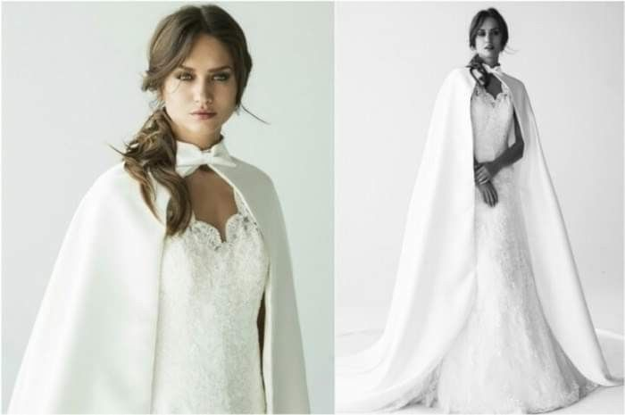 Capa de vestido de noiva outono - 2