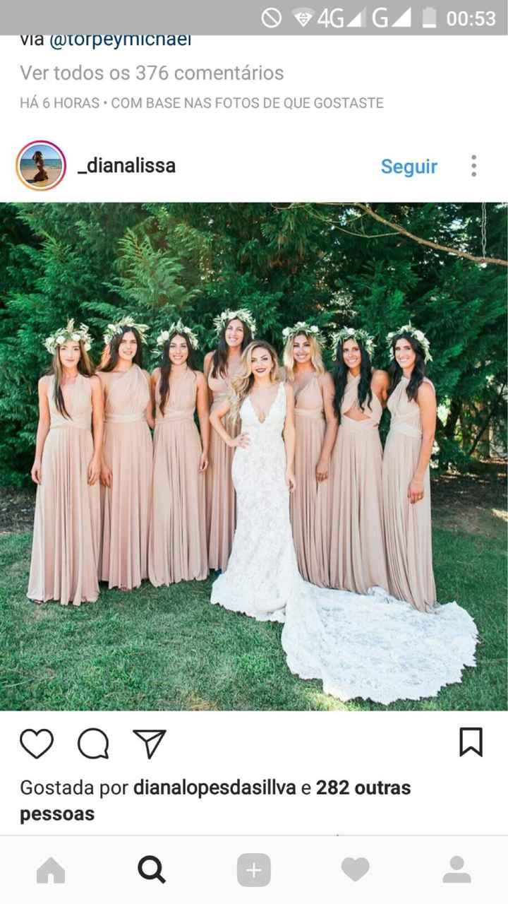 Vestidos das damas de honor - 1
