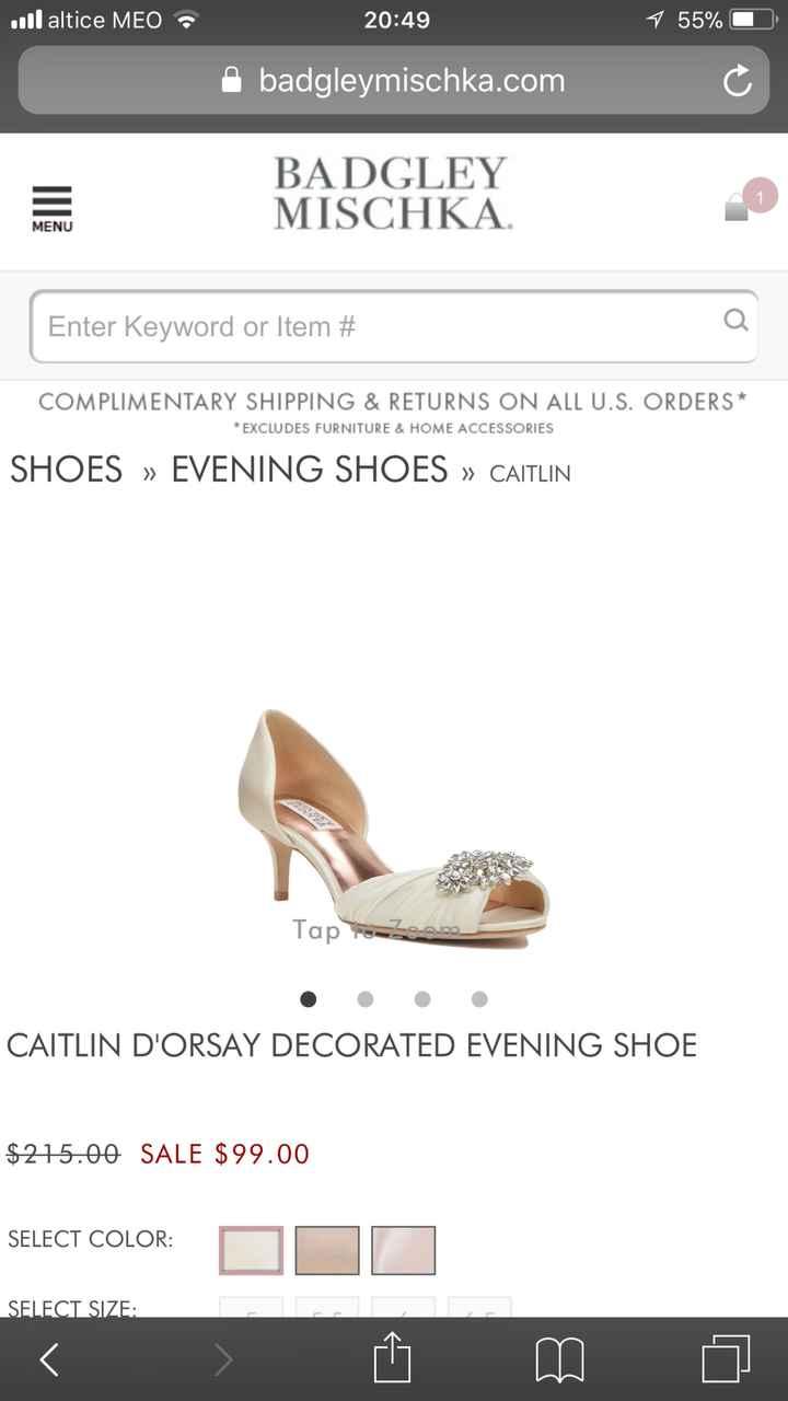 CHECKLIST: Os meus sapatos de noiva - 1