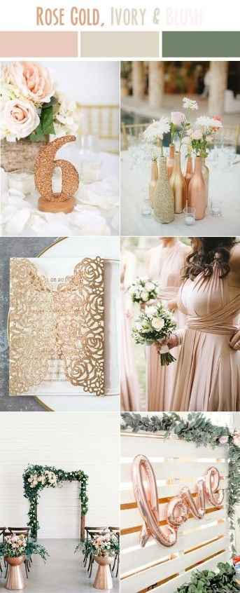 Rosa Gold, Ivory & Blush