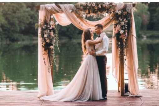 Minha Referência para um Casamento no Lago ao ar livre - 1