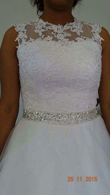 Alguma das noivas teve coragem de encomendar o vestido pela internet sem experimentar? - 2