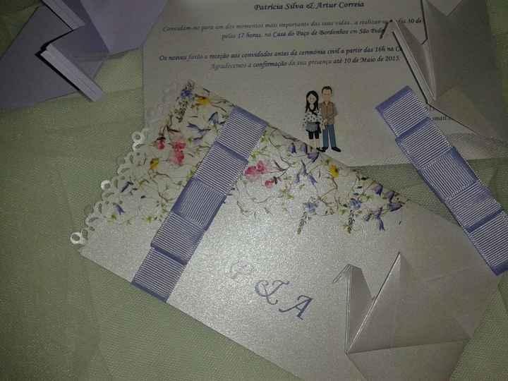 1 - Convite de Casamento em Origami