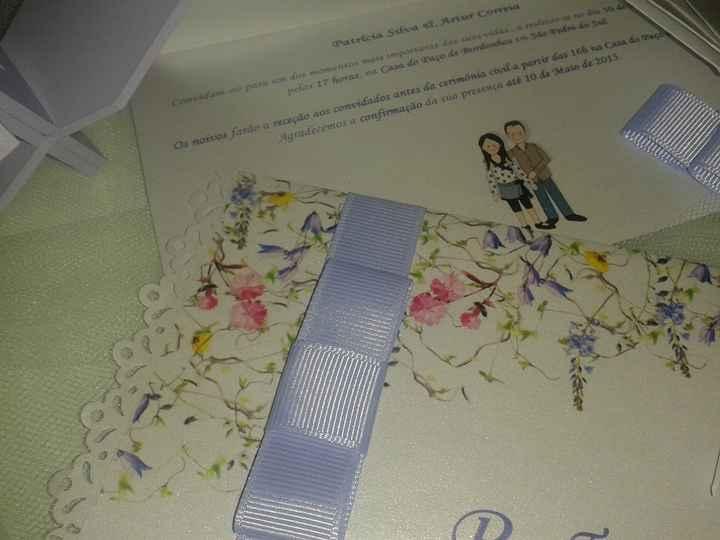 2 - Pormenor do convite de casamento