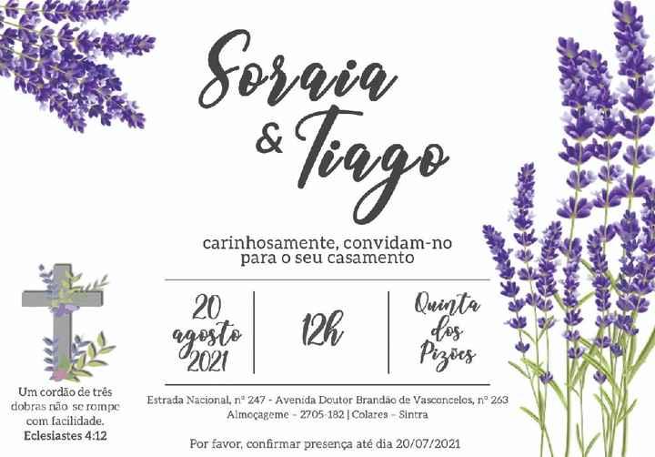 Convites feitos 😊 - 1