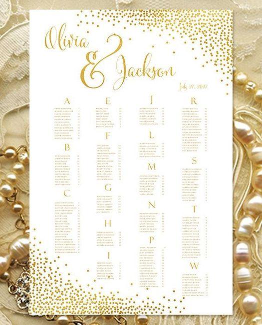 Inspirações para o Mês Dourado: Seating Plan 15