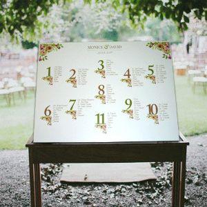 Inspirações para o Mês Dourado: Seating Plan 27