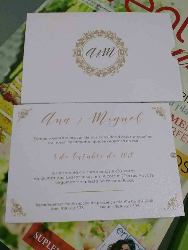 CHECKLIST: O meu convite de casamento - 2