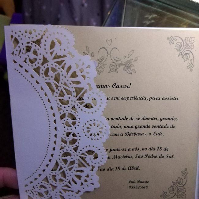 Convites feitos por mim, o que acham? 1