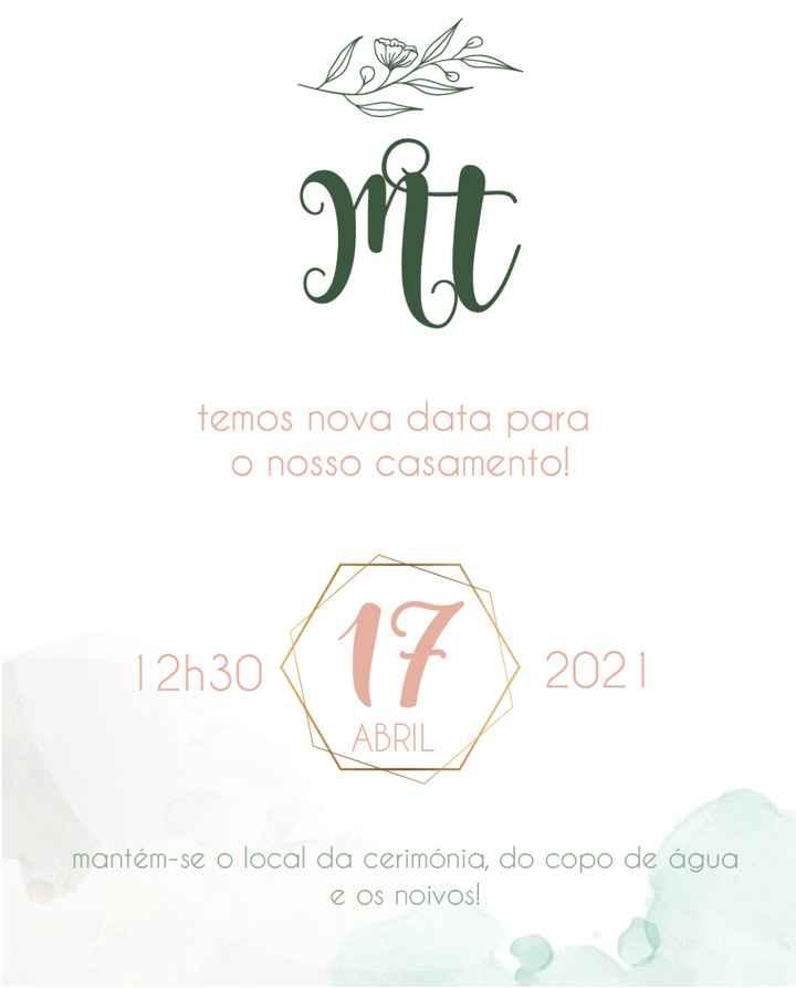 Save the Date...nova data - 1