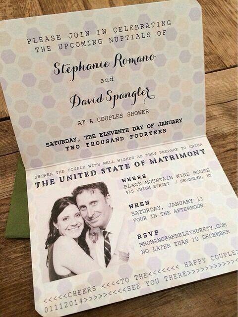 Convites em forma de passaporte