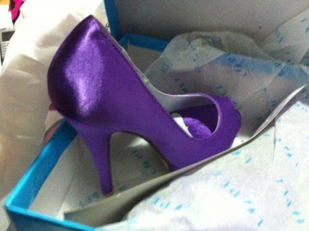 Sapato Lilás Novo