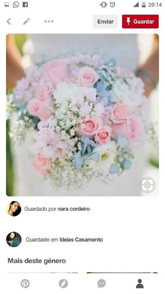 Mês de abril - buquê/ramo da noiva em azul - 1