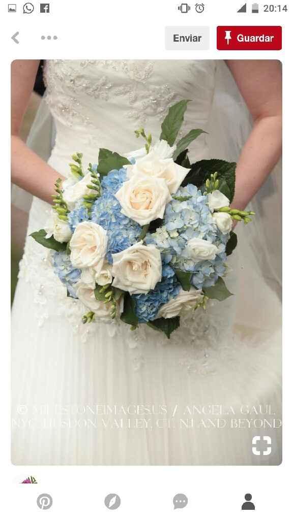 Mês de abril - buquê/ramo da noiva em azul - 2