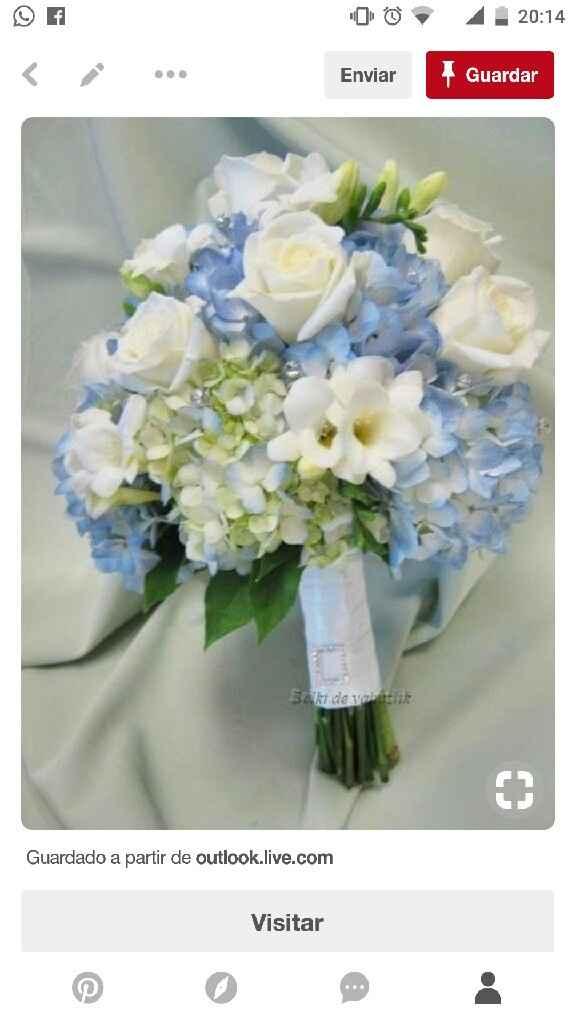 Mês de abril - buquê/ramo da noiva em azul - 3