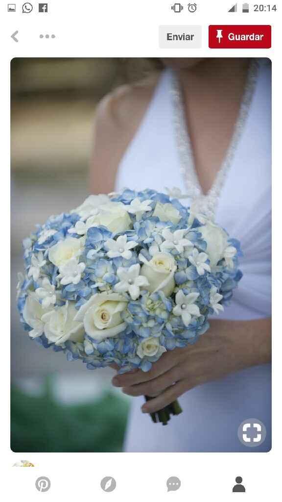 Mês de abril - buquê/ramo da noiva em azul - 4
