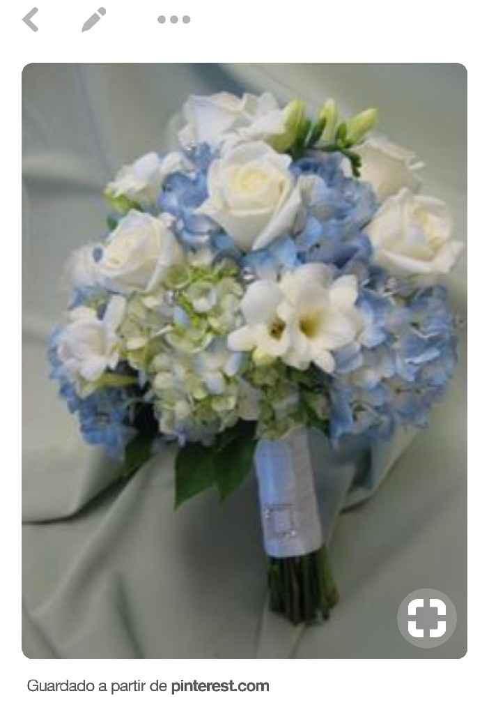 Inspirações: 7 Bouquets em tons azuis - 1
