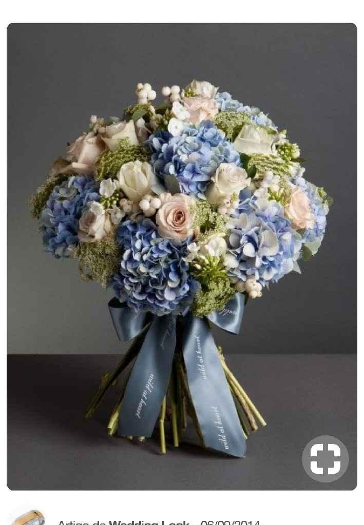 Inspirações: 7 Bouquets em tons azuis - 2