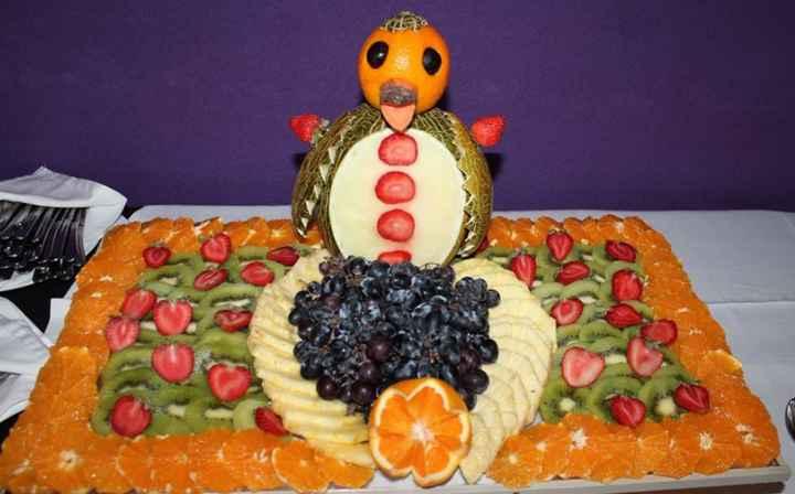 A mesa da fruta será lindíssima. Cheia de arte!