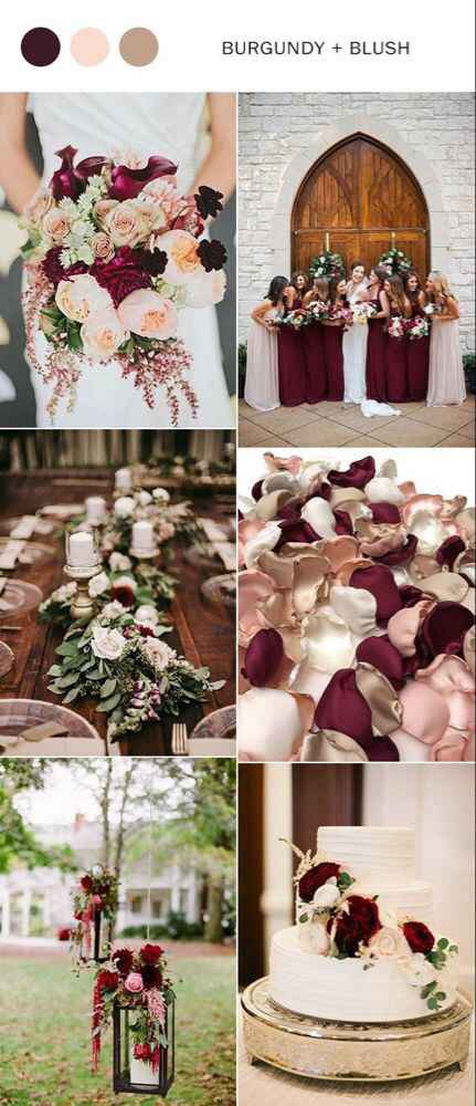 a cor do meu casamento: Burgundy e Blush - 1