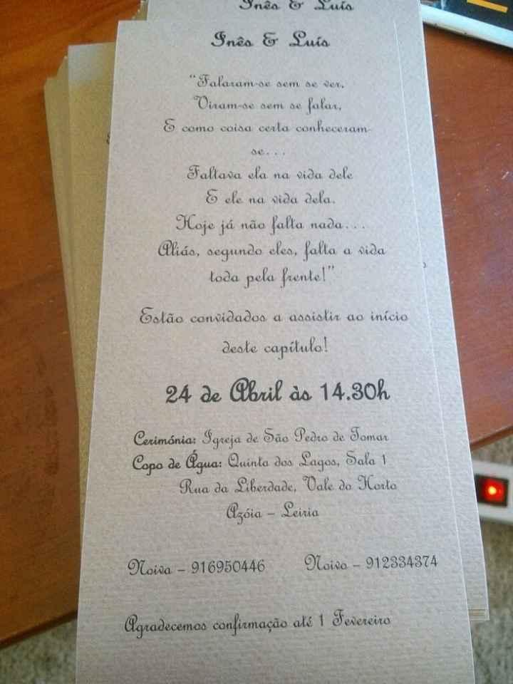O meu convite :) - 2
