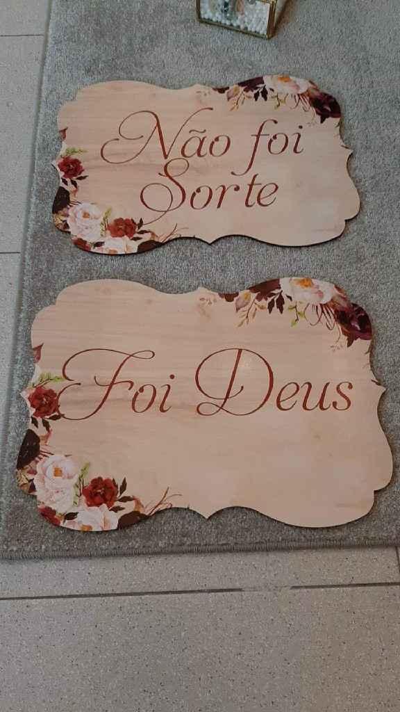 Placas da entrada da Noiva - 1