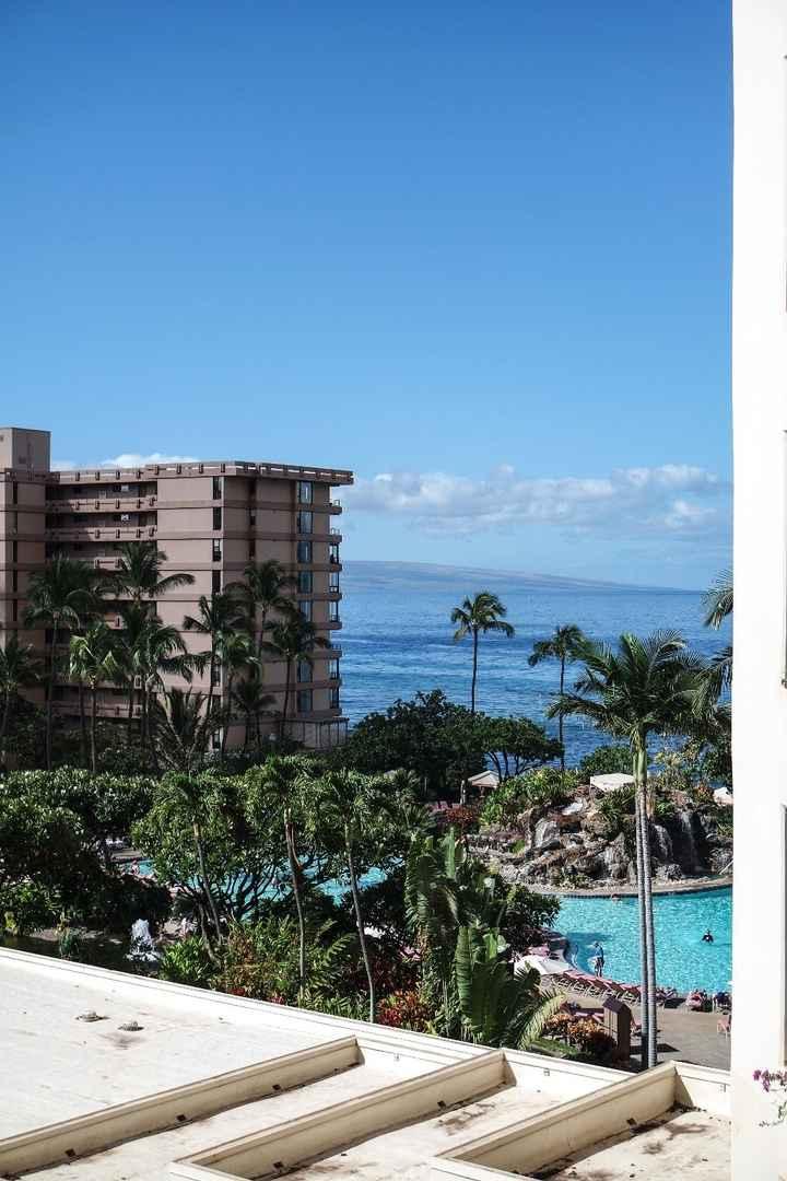 Vista do quarto de hotel