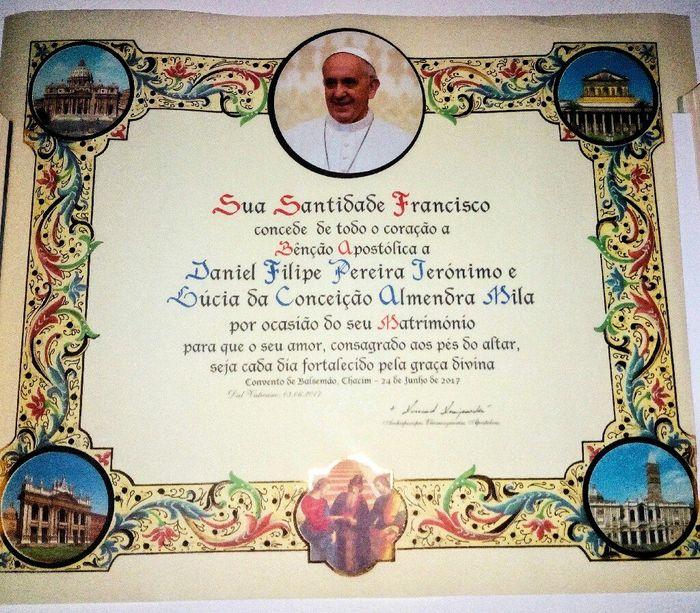 Benção do papa - 1